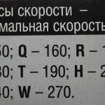 индекс скорости покрышки