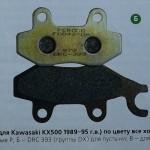 тормозные колодки для мотоцикла Кавасаки.