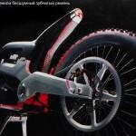 Бесшумный ременной привод водородного мотоцикла