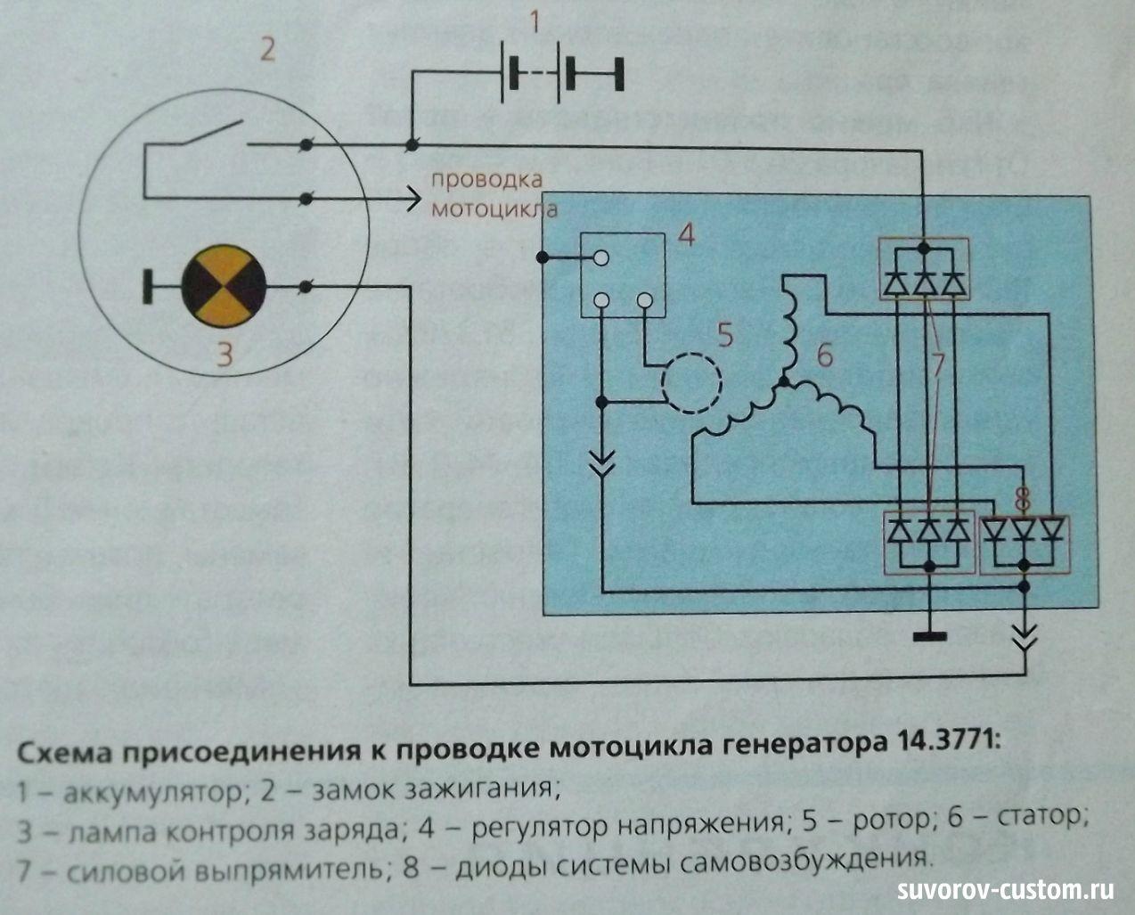 Неисправность генератора схема