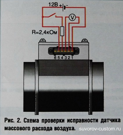 электро-схема проверки датчика