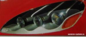 фара с гибкими светодиодами вместо ламп