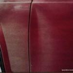 деформированная дверь автомобиля