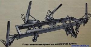 стапель-стенд для вытяжки кузова машины