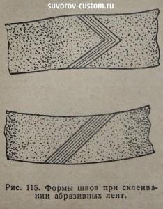 Способы склейки абразивной ленты