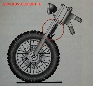 мягкая разборка передней вилки мотоцикла.