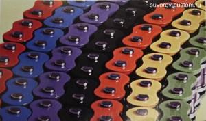 цепи О-ринг и Х-ринг разных цветов