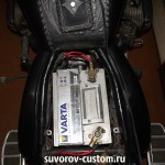 Аккумулятор на 61 ампер на моём мотоцикле Днепр
