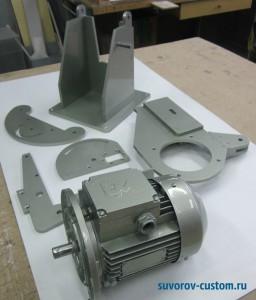 Двигатель и основные детали гриндера