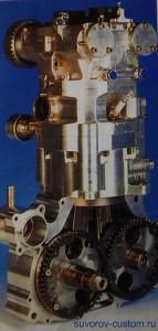 Двухколенвальный мотор