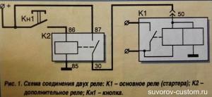 Электро-схема соединения реле.