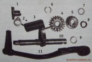 Детали механизма кикстартера.