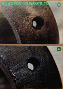 Виды отверстий в головке шатуна.