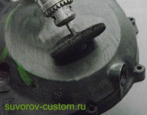 Полировка войлочным кругом, зажатым в патроне дрели (если куда то трудно добраться)