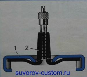 Крышка для подачи давления в бензобак или радиатор.