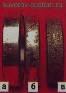 Наплавленные подшипники с разной толщиной наплавки.