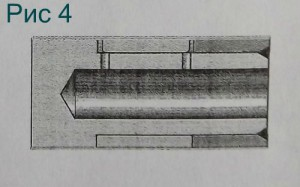 Проточенная шатунная шейка вместе с обоймой и запорным кольцом.