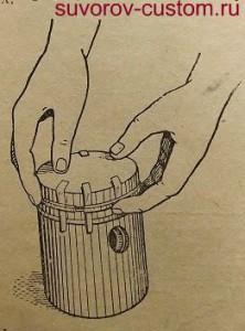Снятие поршневых колец.