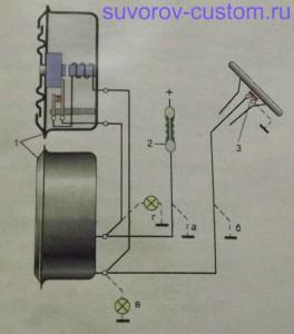 Схема подключения сигналов без вспомогательного реле.