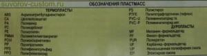 Таблица маркировки пластмасс.