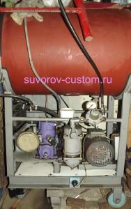 Самодельный компрессор с ресивером на 80 литров.