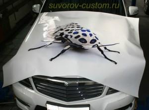 Обклейка виниловой плёнкой с рисунком.