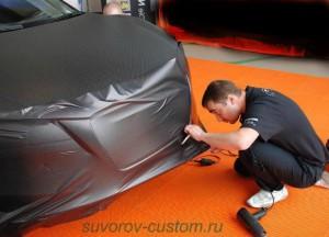 Обклейка плёнкой авто