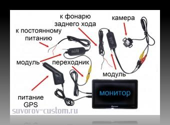 Камера заднего вида - способы подключения