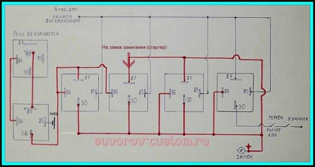 Схема подключения автозапуска двигателя
