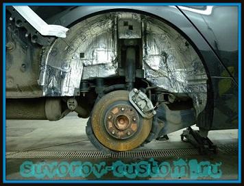 Шумоизоляция колёсных арок