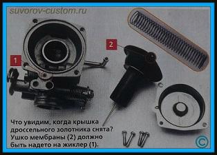 ремонт карбюратора скутера