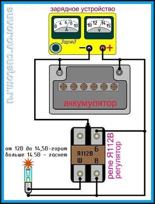 Как проверить реле регулятор - электро-схема проверки