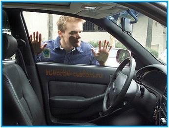 как открыть двери машины без ключa