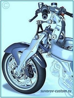 передняя вилка мотоцикла БМВ
