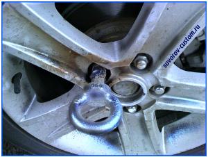 секретки на колёса - приваренная проушина