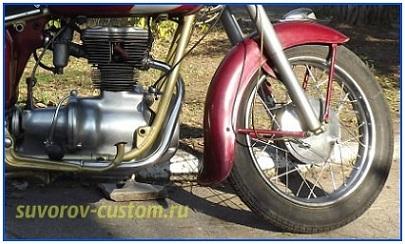 полировка колёс и двигателя мотоцикла симсон